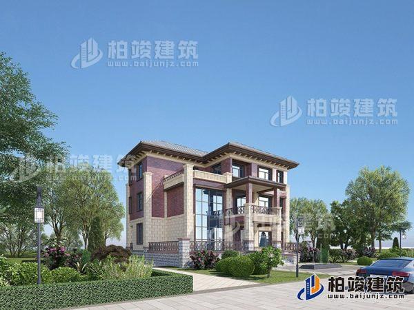 三层复式别墅设计方案图,户型合理、造价35万