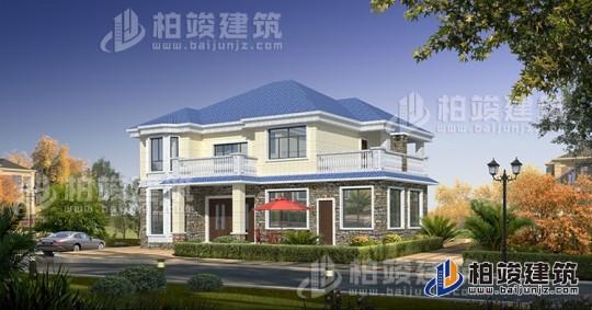 农村欧式二层别墅设计施工图纸 16X13米