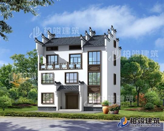 新中式风格农村三层楼房设计图及效果图,砖混结构