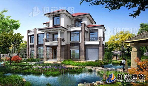 农村三层楼房设计图三层别墅图片,占地面积188平米