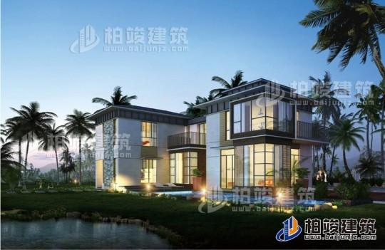三层别墅现风格房屋设计图