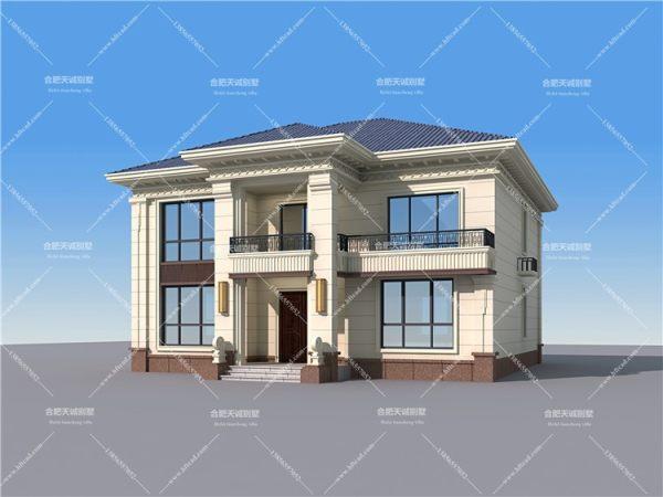 14.2米*14.7米二层新中式别墅设计图纸