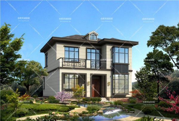 9米*10米二层新中式别墅设计图纸