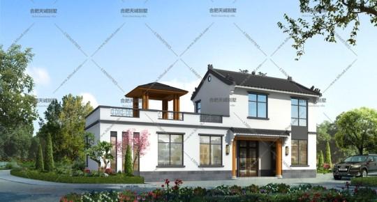 17.4米乘6米别墅图设计图纸两层中式自建房