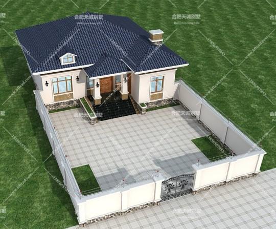 12.8米乘13.8米美式风格别墅设计图纸
