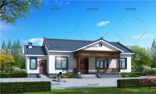 17.4米12.1米新农村一层自建房屋全套设计