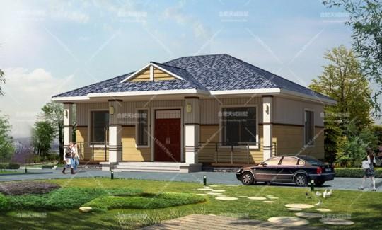 12.6米*11米欧式一层别墅设计图纸
