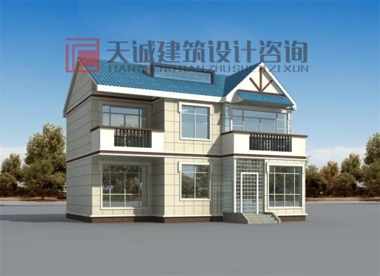 12×12米两层简约自建房施工图