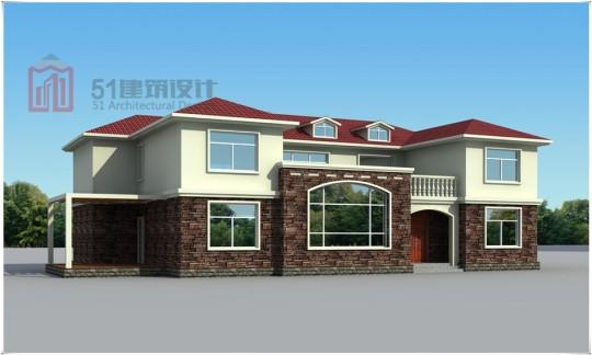 20×15米两层欧式别墅建筑施工图
