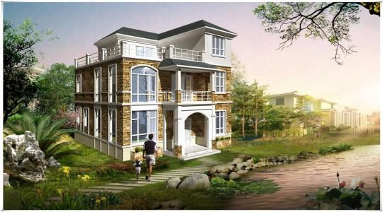 11米×11米现代简约三层别墅建筑施工图