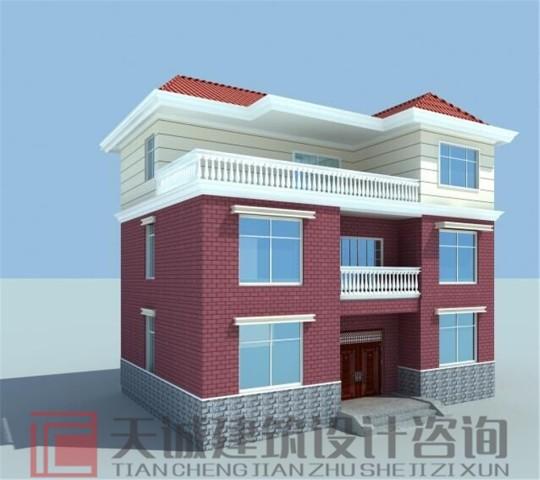 12米×9米两层半别墅设计图纸