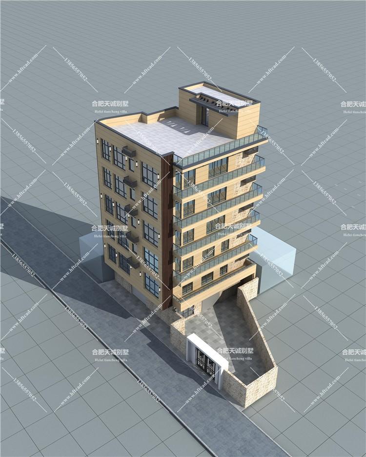 现代五层以上别墅设计图效果图