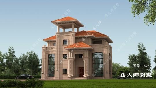17x13三层欧式自建别墅设计图