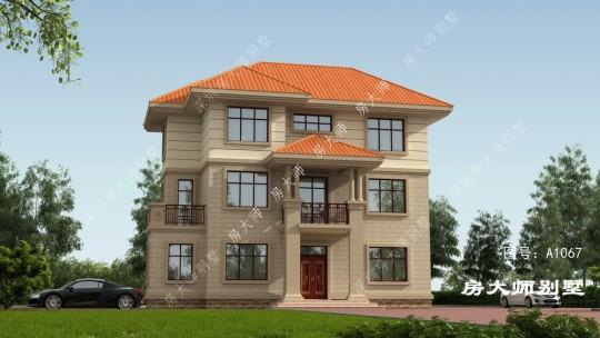 14x10三层欧式自建别墅设计