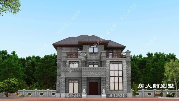 14x15三层气派中式别墅
