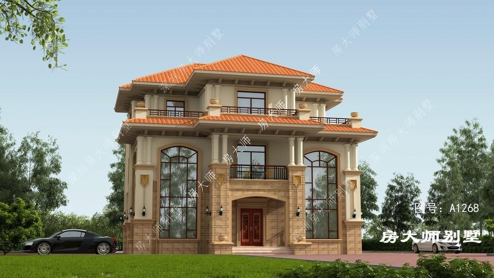 13x13欧式三层自建别墅设计