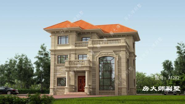 14x14三层欧式自建别墅设计