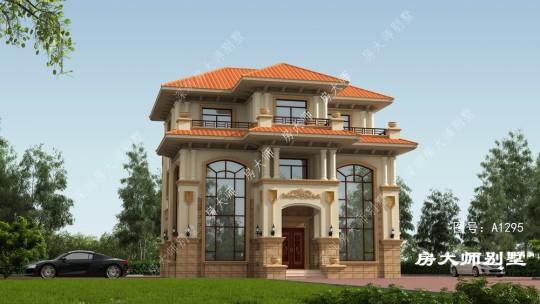 12x12三层欧式自建别墅设计
