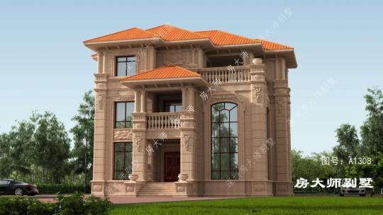 16x15三层欧式自建别墅设计