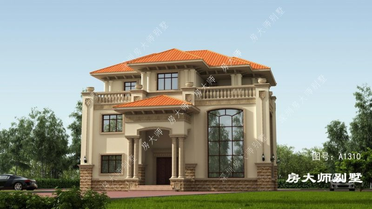 15x14三层欧式自建别墅设计