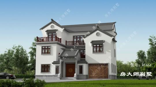 14x13三层中式自建别墅设计
