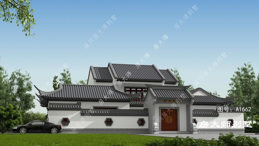 21x19二层中式自建别墅设计