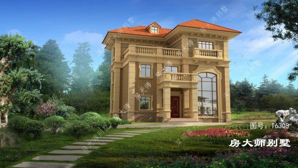 13x15三层欧式自建别墅