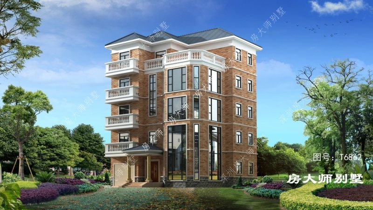 15x13五层欧式自建别墅设计