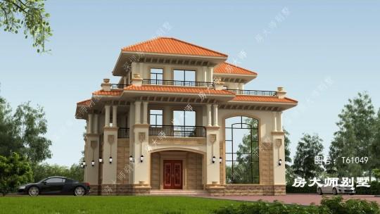 15x13三层欧式自建别墅