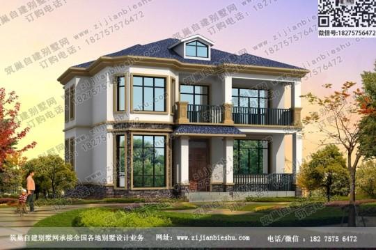 2020年新款欧式二层小洋房设计图片漂亮小别墅