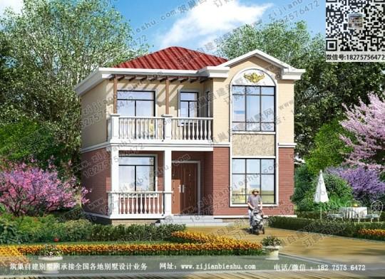 造价15新农村小户型别墅效果图设计图