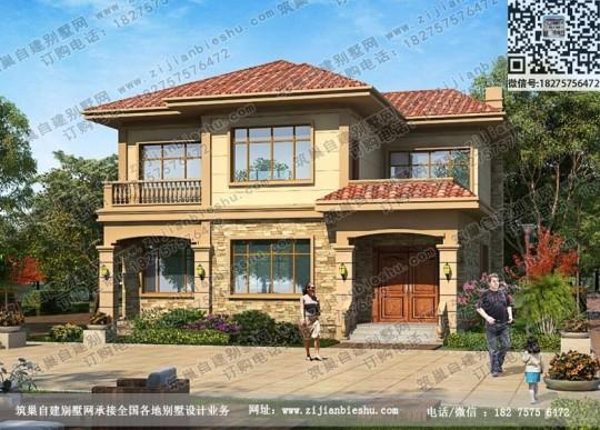 12X11米欧式田园风二层别墅 给你一个温馨的家
