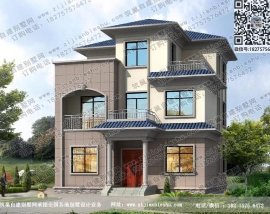 造价30万乡村别墅户型设计图新农村三层房屋图纸