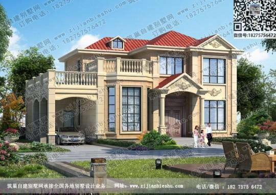 带车库二层别墅设计图纸新农村住宅自建房全套施工效果图