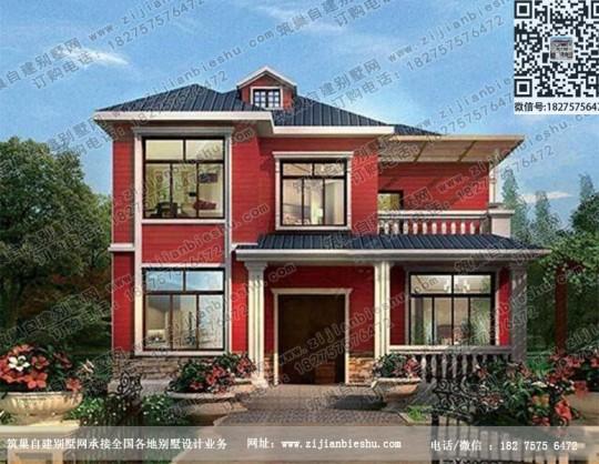 新农村二层自建别墅设计图现代房屋图片