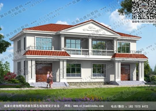 18x10米农村二层双拼别墅设计图片