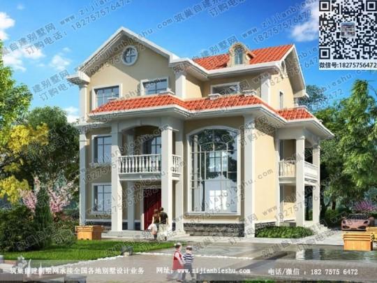 130平米农村豪华三层别墅设计图纸带效果图