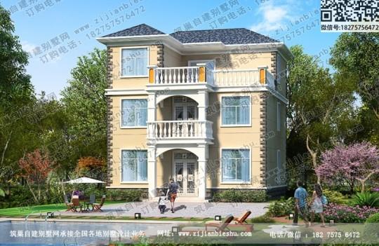 三层30万以内100平米别墅户型图