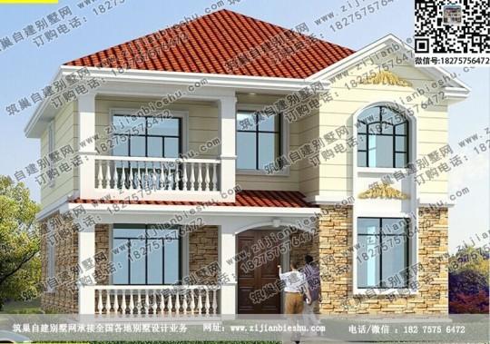 二层好看10X11.5米农村房屋设计图