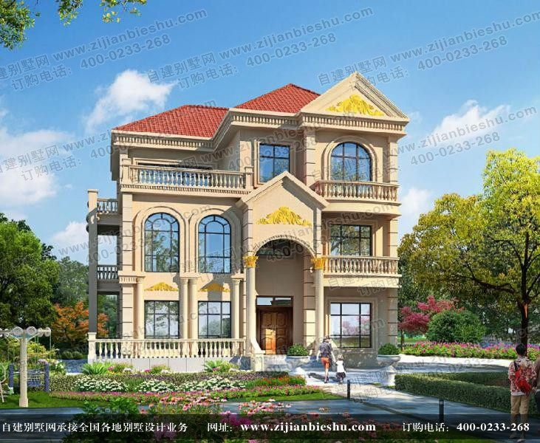 占地130平方米三层复式豪华别墅设计图