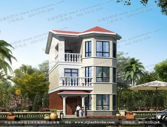 三层砖混结构独栋小别墅设计施工图方案