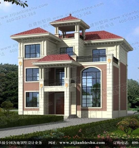 130平方米简洁复式三层别墅带景观阳台漂亮别墅