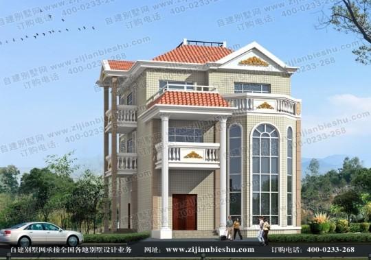 新款经典欧式三层豪华别墅设计图