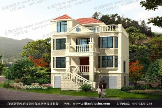 浙江某地区有架空层的三层半自建房设计图