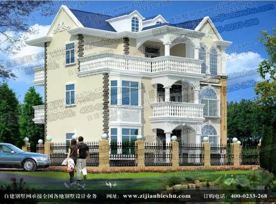 2015年最新款三层别墅设计图 农村建房施工图纸