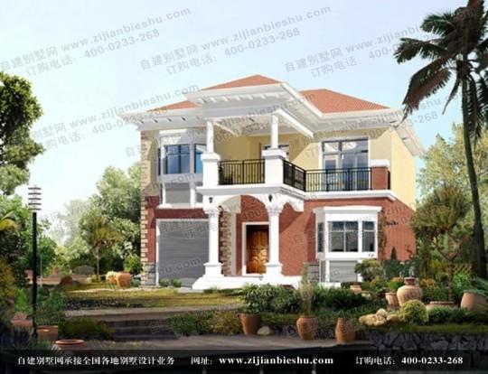 两层清新欧式小别墅带露台设计图纸