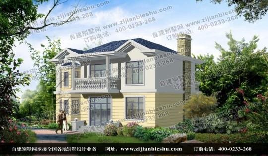 新农村二层自建房屋带晒台全套设计图纸