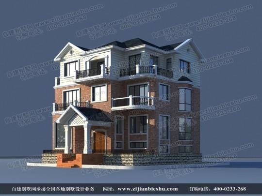 高端实用三层带夹层别墅设计图纸