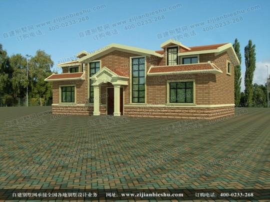 经济实用新农村两层别墅全套设计图纸