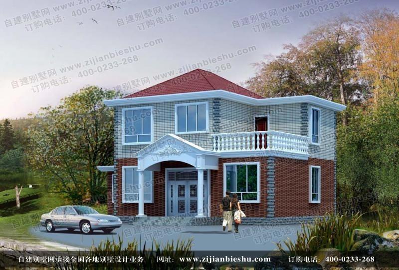 新农村100平方两层自建小别墅全套设计图纸